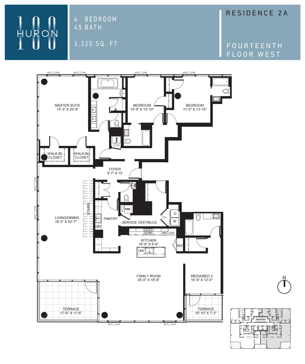 A look at 100 w huron floor plans 100 w huron condos for Floor 4 100 floors