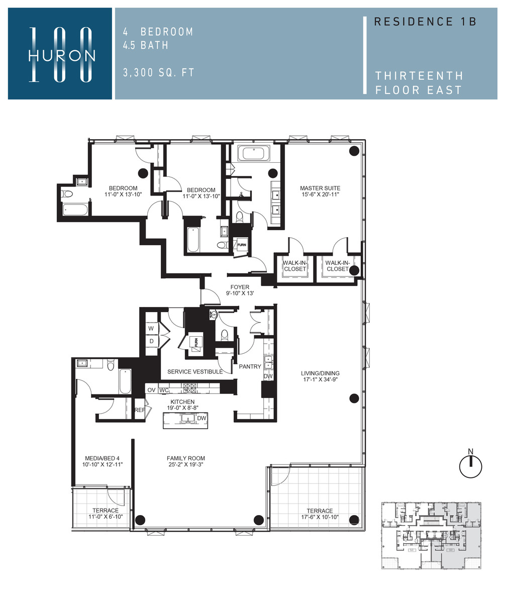 A Look At 100 W Huron Floor Plans 100 W Huron Condos