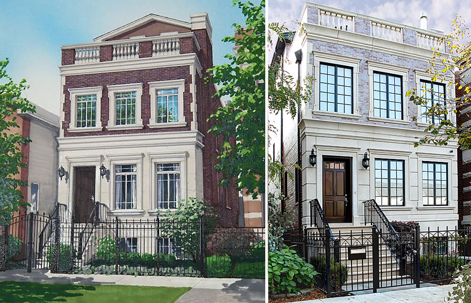 Luxury new construction homes on the north side in high demand for Modern homes for sale chicago