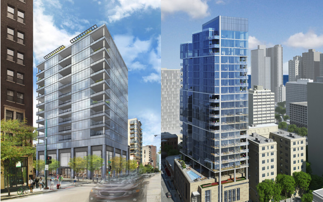 Comparing 4 E Elm Amp 100 W Huron New Construction Condos