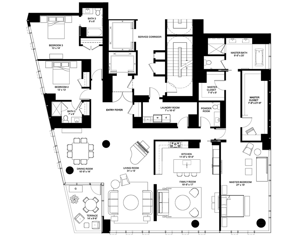 4 e elm floor plans chicago il luxury condos for Condo blueprints