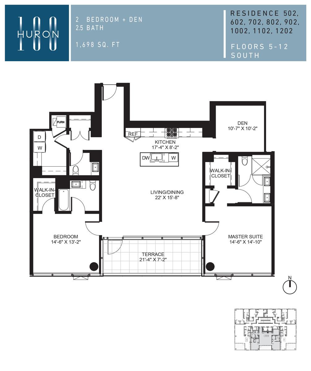 A Look At 100 W Huron Floor Plans 100 W Huron Condos